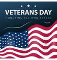 veterans day army america patriotic poster vector image