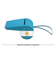 White and Light Blue Whistle of Argentina vector image vector image