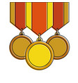 winner medals isolated icon vector image vector image