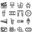set of movie cinema and theater icons vector image