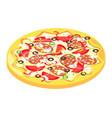isometric icon of italian pizza vector image