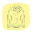a realistic warm jumper or knitted sweater with a vector image vector image