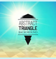 abstract green sunset with yellow triangle field vector image vector image