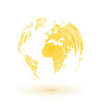 abstract yellow world map vector image vector image