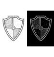 antique shields hand drawn sketch vector image vector image