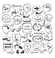 ArrowsSpeech bubbles FramePointer icon vector image vector image