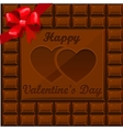Bar of chocolate on Valentine s Day