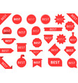 best red labels vector image vector image