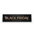 black friday sale elegant luxury 3d banner modern vector image