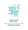 breast cancer prevention concept icon vector image