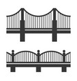 bridge icon set vector image vector image