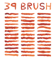 brown brushes vector image vector image