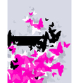 butterflies - abstract design vector image