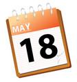 calendar may vector image