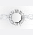 circle white abstract technology background with vector image vector image
