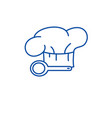 cooking time line icon concept cooking time flat vector image vector image