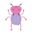 cute ant insect animal cartoon doodle color vector image
