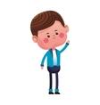 cute boy cartoon icon vector image vector image