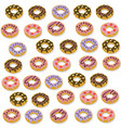 delicious dessert donuts chocolate and berry vector image