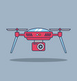 drone technology aerial surveillance vision vector image