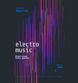 electronic music festival poster abstract line vector image
