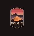 emblem patch logo death valley national park vector image vector image
