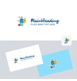 employee logotype with business card template vector image