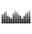 equalizer level radio icon simple black style vector image vector image