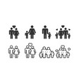 family icon design template graphic vector image vector image