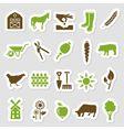 farm stickers vector image vector image