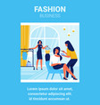 fashion business people in fashion house vector image vector image