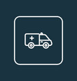 first-aid car outline symbol premium quality vector image
