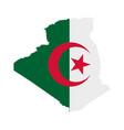flag in map algeria
