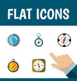 flat icon direction set of magnet navigator vector image