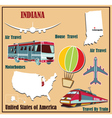 Flat map of Indiana vector image vector image