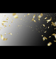 flying golden confetti on transparent background vector image