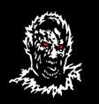 frenzy zombie head vector image vector image