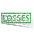 Green outlined LOSSES stamp vector image vector image
