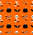 halloween party seamless pattern flat style vector image vector image
