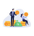 happy business people earning money vector image