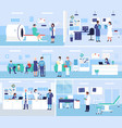 healthcare medicine service hospital office vector image vector image