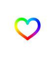 heart logo rainbow heart symbol vector image vector image