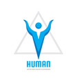 human character - logo template concept vector image vector image