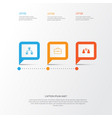 human icons set collection of briefcase talking vector image vector image