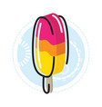 ice cream three color pink orange and yellow vector image vector image