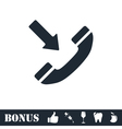 Incoming call icon flat vector image vector image