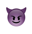 isolated purple demon devil smiling face icon vector image vector image