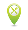 knife AND fork GREEN map pointer vector image