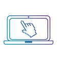 laptop computer with pointer vector image vector image