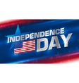 lettering independence day on background vector image vector image